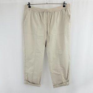Talbots Roll-Tab Hem Stretch Waist Pants Size 16W